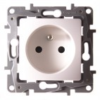 Gniazdo 2P+Z 16A z przesłoną - automatyczne zaciski sprężynowe - Niloe