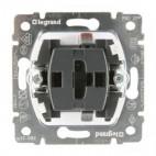 Przycisk jednobiegunowy z możliwością podświetlania przy użyciu neonówek z kasetami 10 AX - 250 V~ - Sistena Life