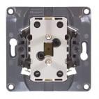 Gniazdo wtyczkowe 2x2P+Z 16A - 250 V~ (automatyczne zaciski sprężynowe, komplet z uchwytem montażowym) - Celiane