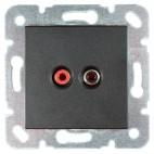 Gniazdo głośnikowe konektor 2 x chinch - Novella