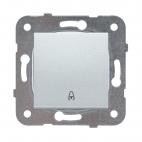 Przycisk, kolor srebrny - Novella