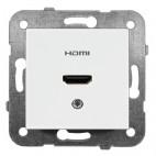 Gniazdo HDMI, kolor biały - Karre